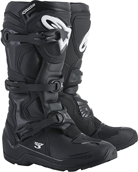 Alpinestars Tech 3 Enduro Motocross Off Road Boots 2018 Version, Black, Men's Size 13
