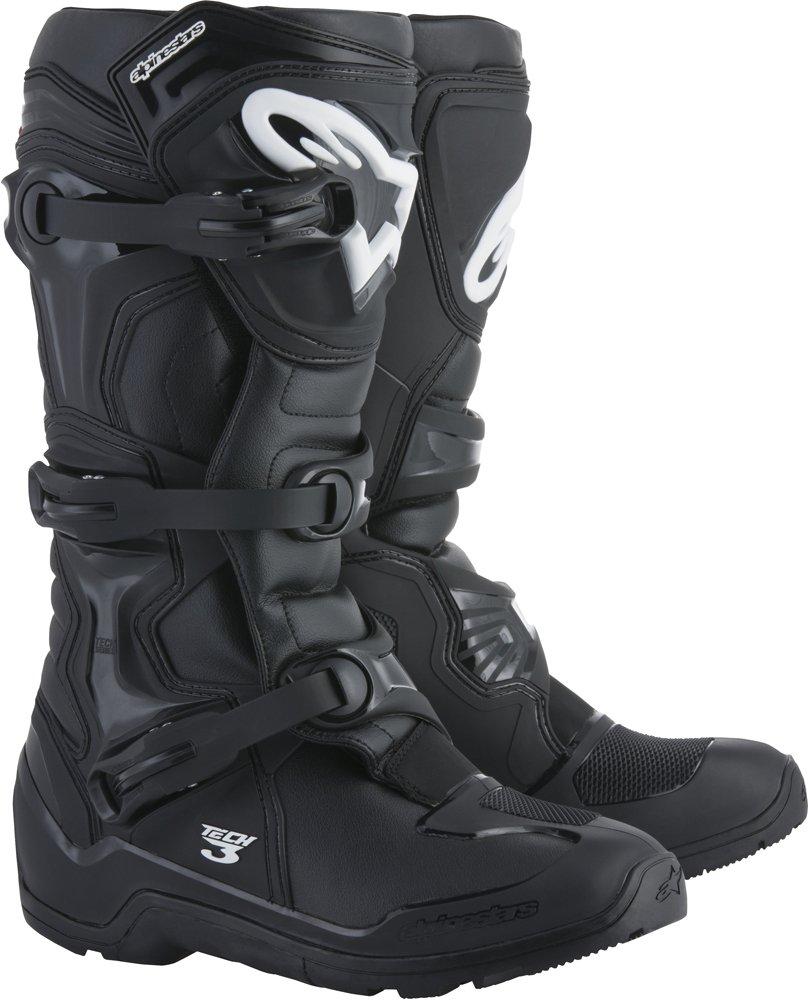 Alpinestars Tech 3 Enduro Motocross Off-Road Boots 2018 Version, Black, Men's Size 8