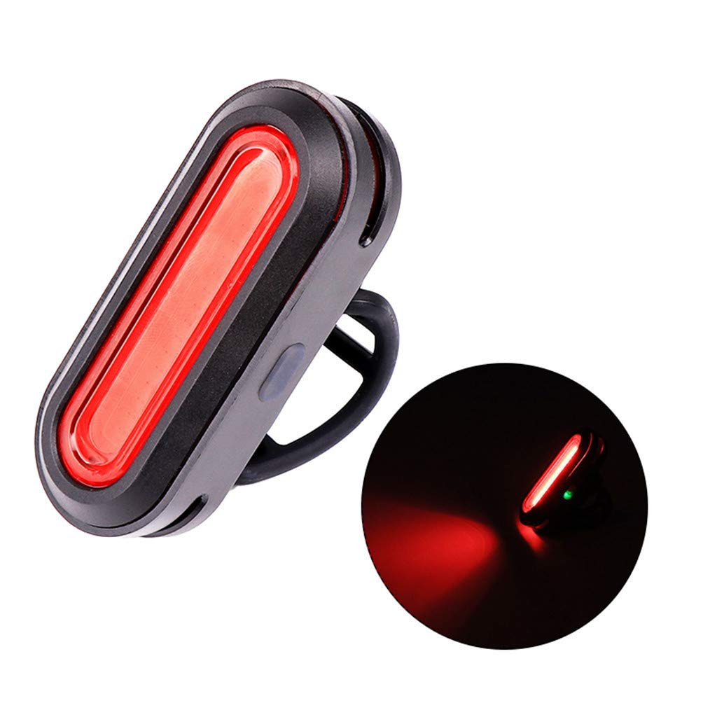 XGao Bicycle Riding USB Rechargeable Front and Rear Lights Cob Led Taillights Warning to Ensure Travel (Black)