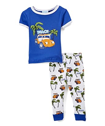 Amazon Com Sweet Soft Baby Boys Beach Theme Pajamas Toddlers