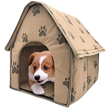 STRIR Cama para Perros Perros Casa Perros Cueva Mascota Cama Caliente Saco de Dormir Cesta Caseta