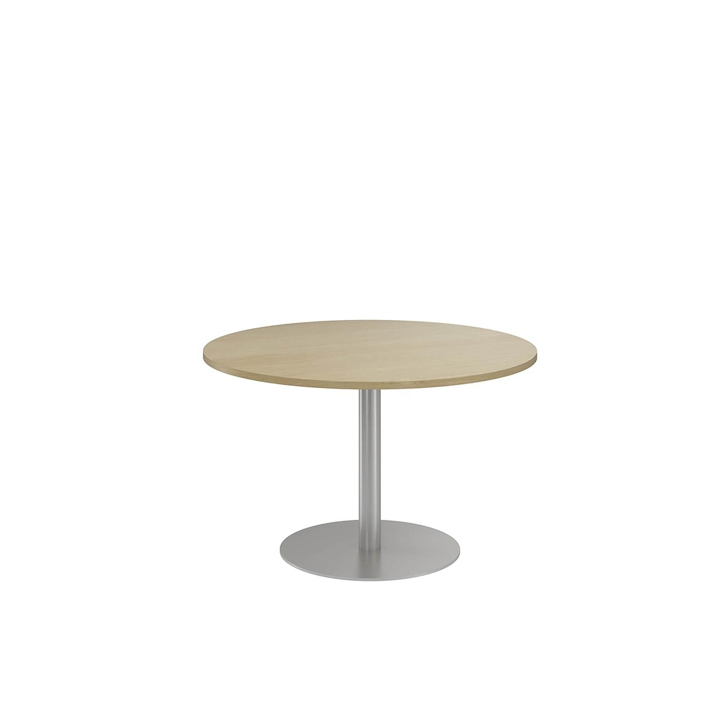 NOVA ECO High Quality Circular Meeting Table, Column Base, NATURAL OAK