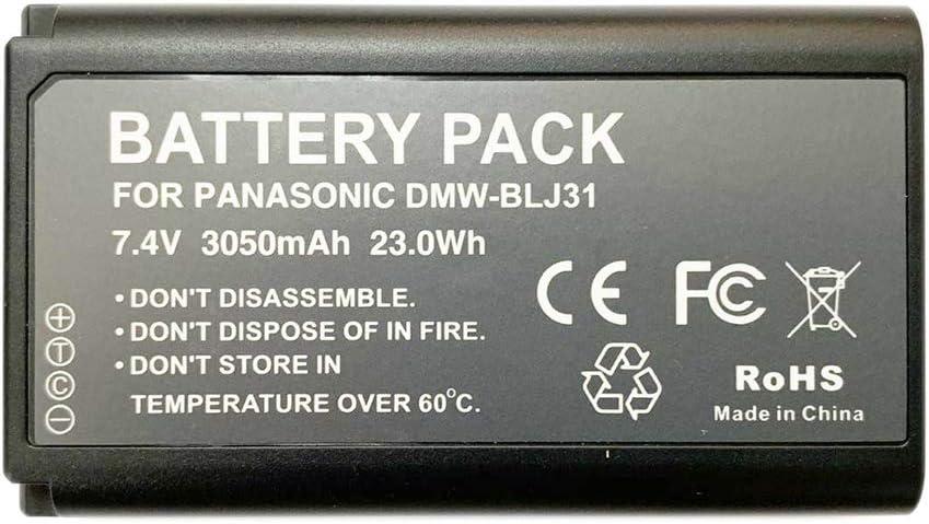 Recambio de bateria DMW-BLJ31 Compatible con Panasonic Lumix S1 DMW-BLJ31 Lumix S1 S1R dmw-blj31 s1 s1r 3050mAh 7.4V