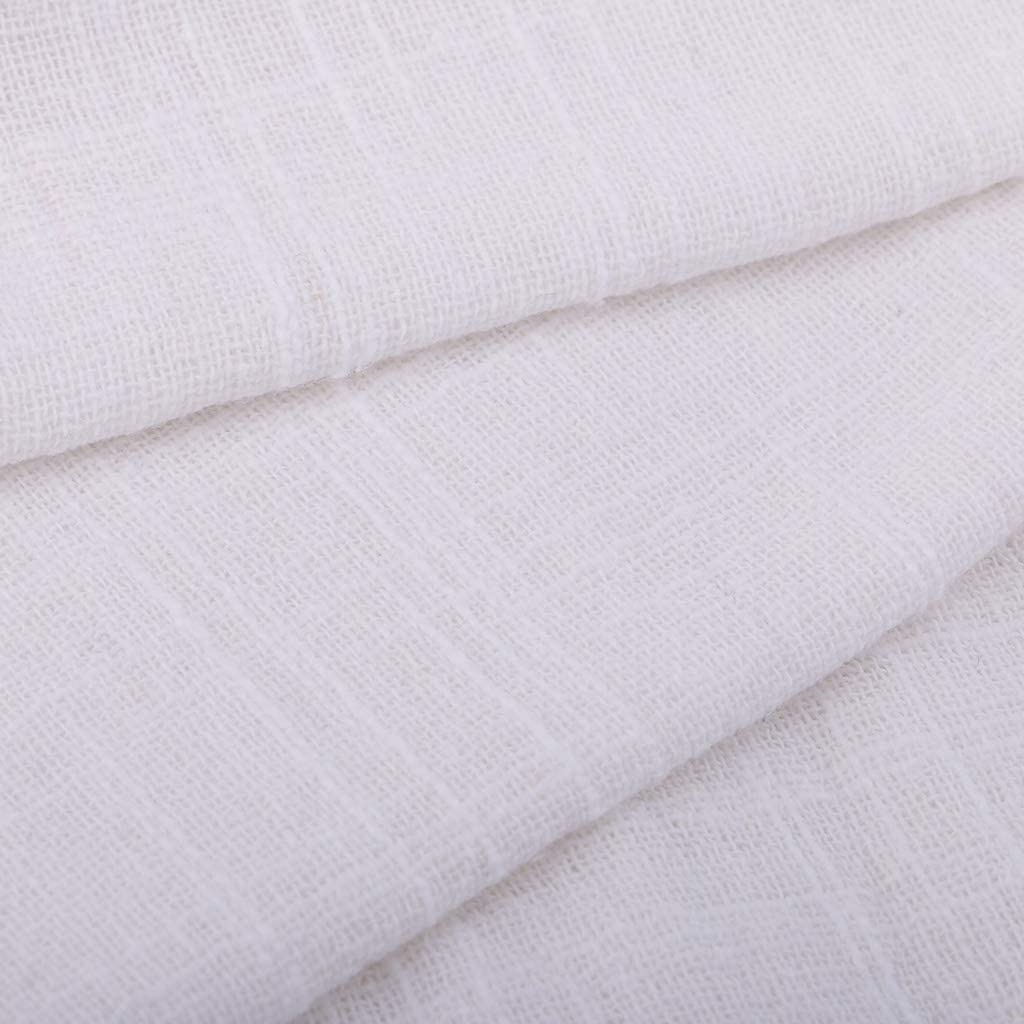 1 Meter 50 Cotton Linen Fabric Soft Thin Cloth for Garment Dust Covers Sewing Khaki Cushion Curtain