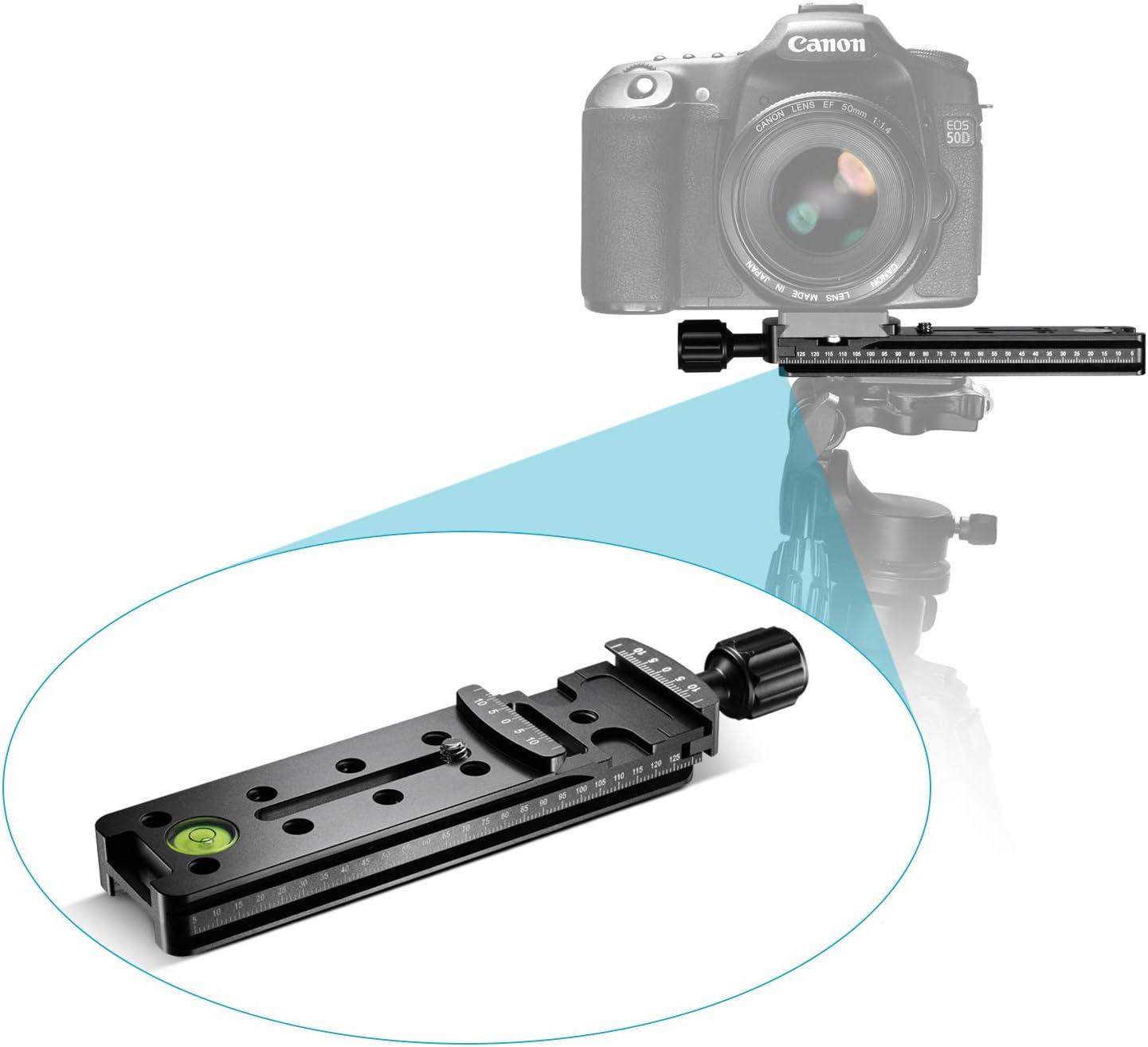 Ychaoya Camera Stand NNR-100 Multi-Purpose 100mm Nodal Rail Slide Plate QR Clamp Macro Panoramic Bracket