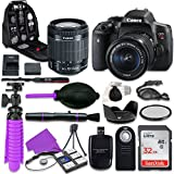 Canon T6i Rebel DSLR Camera with Canon 18-55mm IS STM Lens, 32GB Memory + Accessory Bundle