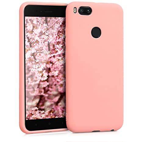 kwmobile Funda compatible con Xiaomi Mi 5X / Mi A1 - Carcasa de TPU silicona - Protector trasero en rosa claro