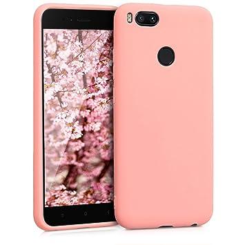 kwmobile Funda compatible con Xiaomi Mi 5X / Mi A1 - Carcasa de [TPU silicona] - Protector [trasero] en [rosa claro]