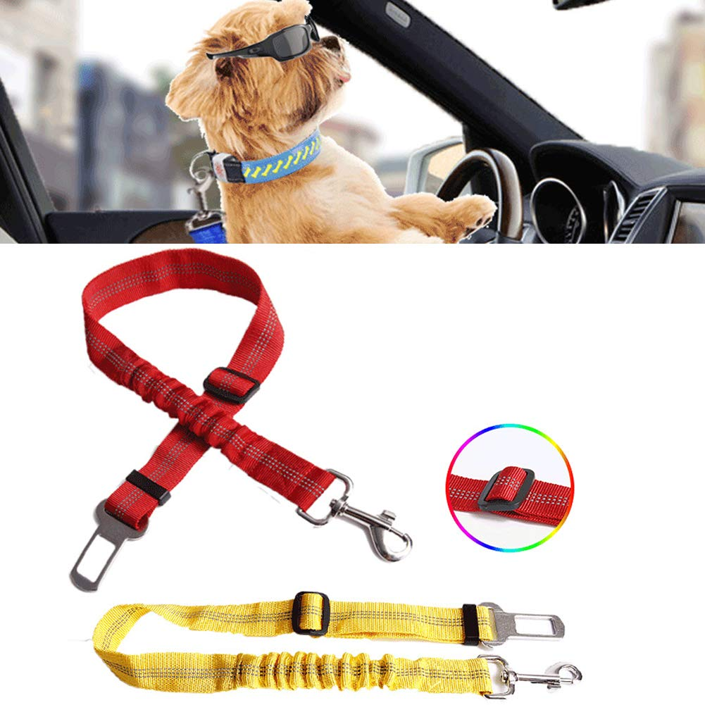 strimusimak Riflettente Regolabile Pet Cani di ritenuta per seggiolino Auto Cintura di Sicurezza Cinghia Imbracatura