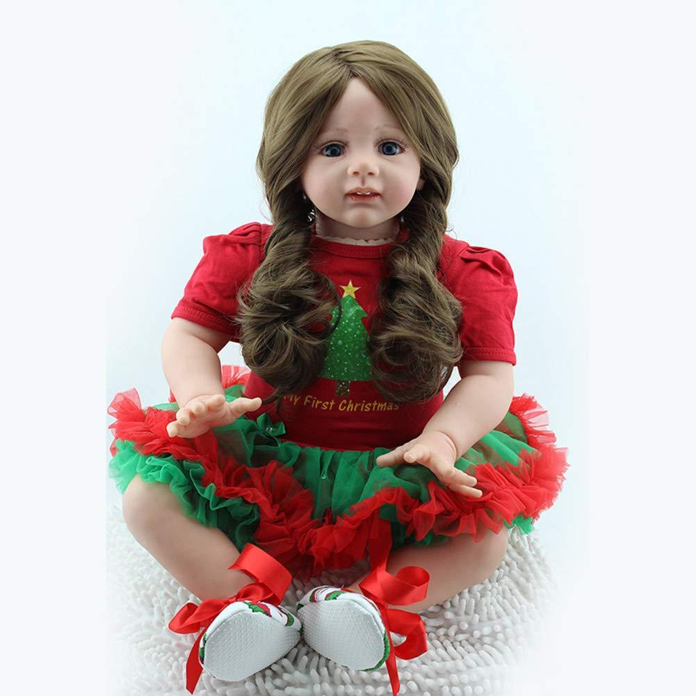 NPKDOLL Muñeca de Navidad para bebé, 60 cm, J262, Material de Silicona de simulación Suave, Juguete de Regalo para coleccionar muñeca