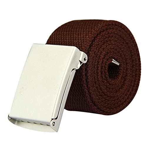 CellDeal Mens Plain Webbing Canvas Belt Fit 32 to 52 inch Various Colours