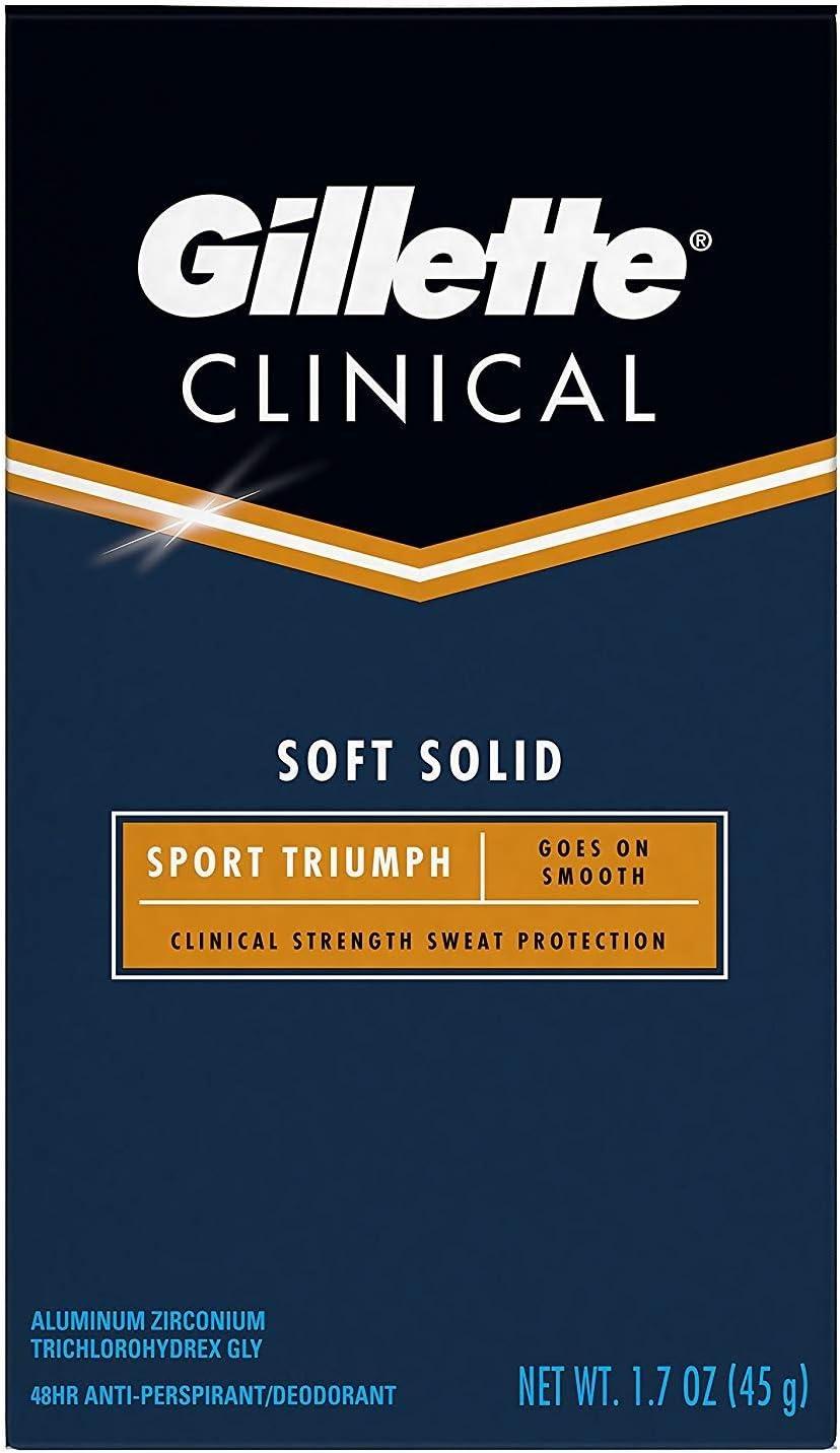 Gillette Clinical Strength Sport Odor Protection Advanced Solid Antiperspirant/Deodorant - Sport Triumph - 1.7 oz