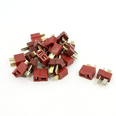 SODIAL(R) 10 x conectores T-Plug H/M compatible con Deans baterias LiPo TM01 punta de oro: Electrónica