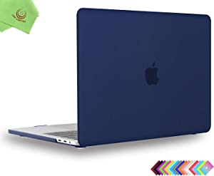 UESWILL MacBook Pro 15 inch Case 2019 2018 2017 2016, Smooth Matte Hard Case Cover for MacBook Pro 15 inch with Touch Bar/USB-C, Model: A1990 / A1707, Navy Blue