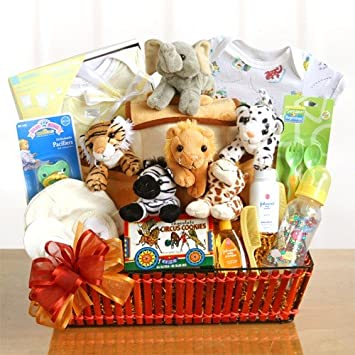 Amazon.com : Noah's Ark Newborn Baby Gift Basket : Home Decor Gift ...