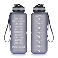 Artoid Mode 48oz Motivational Fitness Workout Sports Water Bottle with Time Marker...
