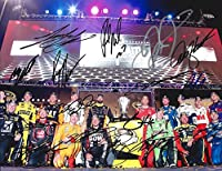 16X AUTOGRAPHED 2015 Chase for the Sprint Cup Playoffs (Group Picture Pose) Signed NASCAR 9X11 Inch Glossy Photo with COA (Signed By: Jeff Gordon, Dale Jr, Kyle Busch, Harvick, Edwards, & Many More!) by Trackside Autographs