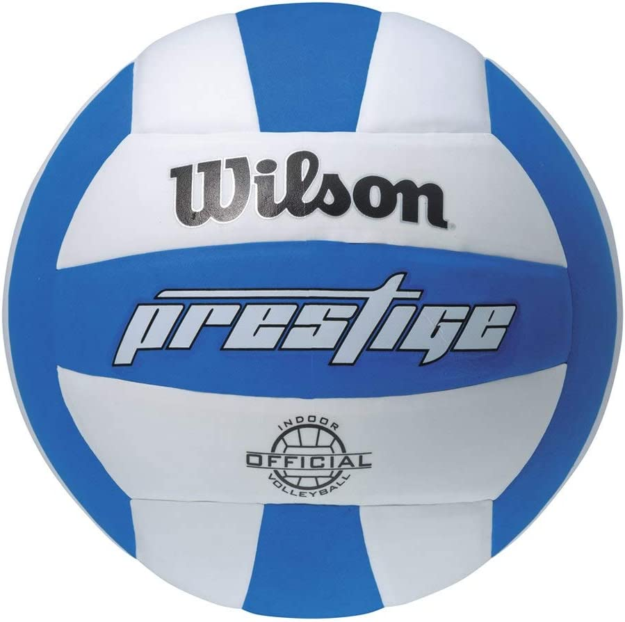 Wilson Prestige Balón, Adultos Unisex, Blanco/Azul, Talla Única ...