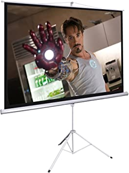 Electric Motorized Projector Screen 100 inch 16:9 HD Diagonal with Remote Movie