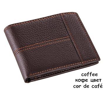 kaoling Cuero Hombre Carteras Moda Splice Monedero DóLar Precio Original Coffee: Amazon.es: Deportes y aire libre