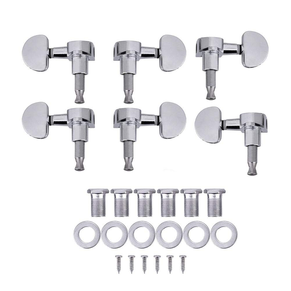 3L3R Guitar Tuning Pegs, Guitar Locking Tuners Zinc Alloy Machine Heads Silver Dilwe
