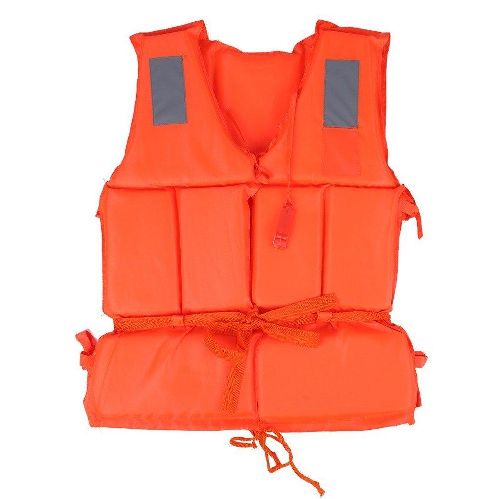 個人ライフベストライフジャケット水泳ボートビーチアウトドアサバイバルAid安全ライフジャケットベストwith点ホイッスル  Child Orange B078CQZMCD