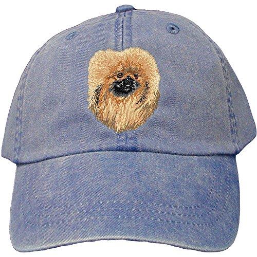 Cherrybrook Dog Breed Embroidered Adams Cotton Twill Caps - Royal Blue - Pekingese