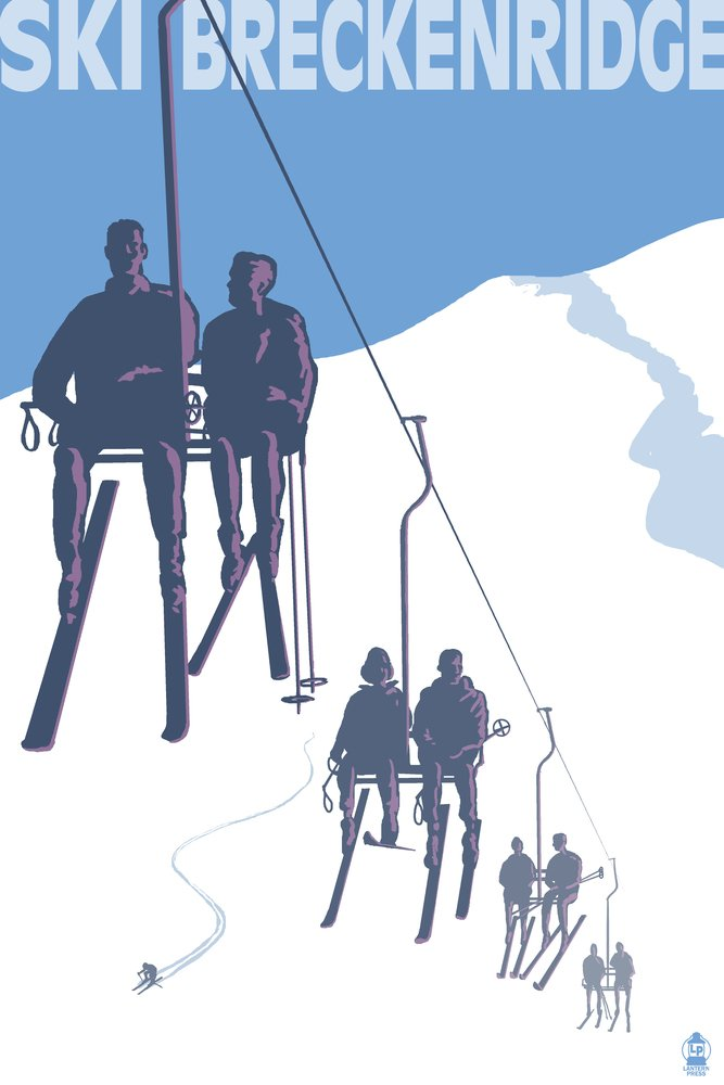 【初回限定お試し価格】 Breckenridge 36、コロラド州スキーリフト Giclee 4 Coaster Set LANT-31790-CT LANT-31790-CT B017E9QN1Y 36 x 54 Giclee Print 36 x 54 Giclee Print, 銘菓処笑福堂:aa09feae --- arianechie.dominiotemporario.com