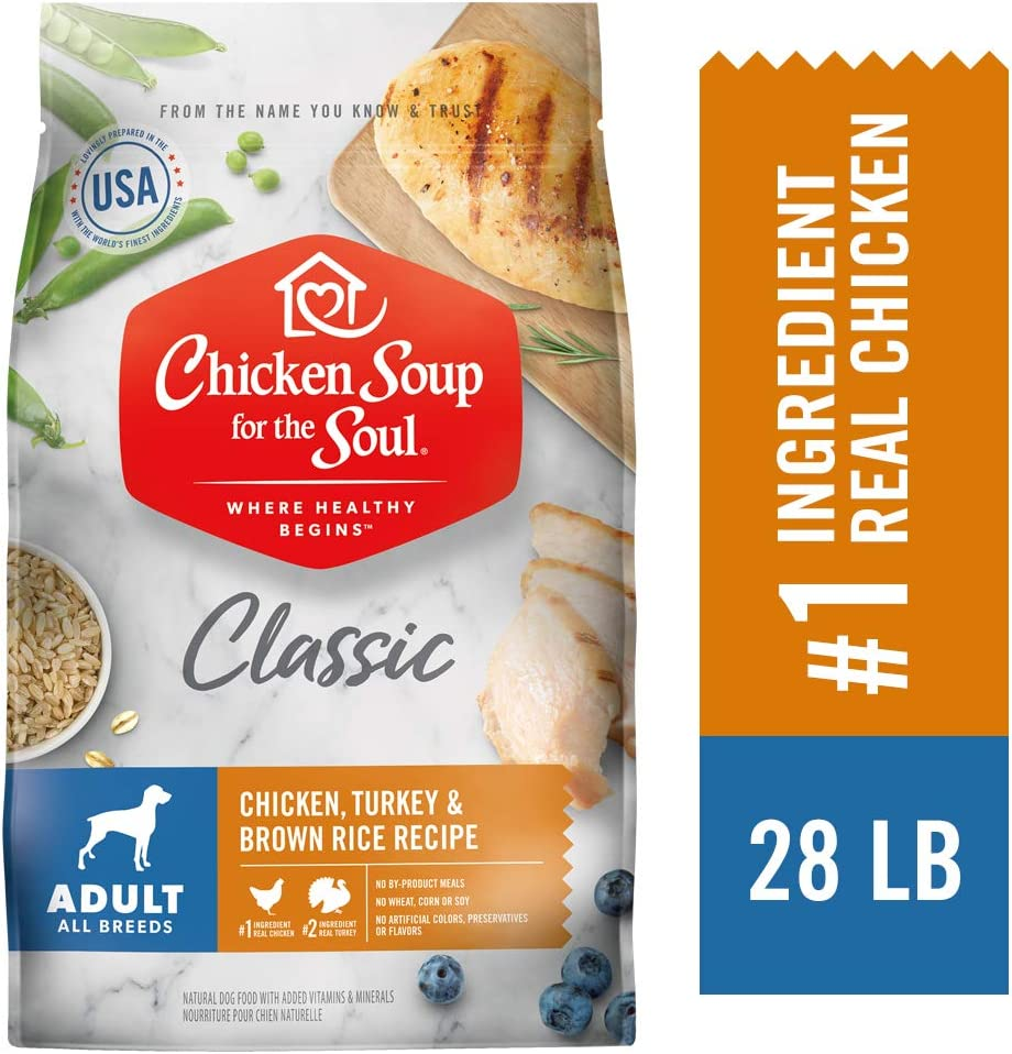 Chicken Soup for the Soul Adult Dog Food- Chicken, Turkey Brown Rice Recipe, Dry Dog Food