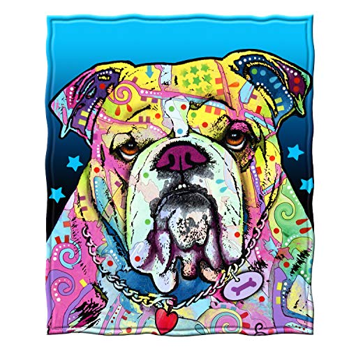 Bulldogs Fleece Blanket - Dawhud Direct Fleece Throw Blanket by Dean Russo (Bulldog)