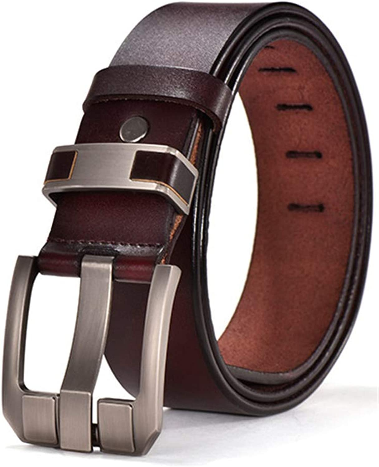 Vintage Belts Genuine Leather For Men Good Quality Cowhide Male Pin Buckle Big Size Strap Waistband For Men JY006
