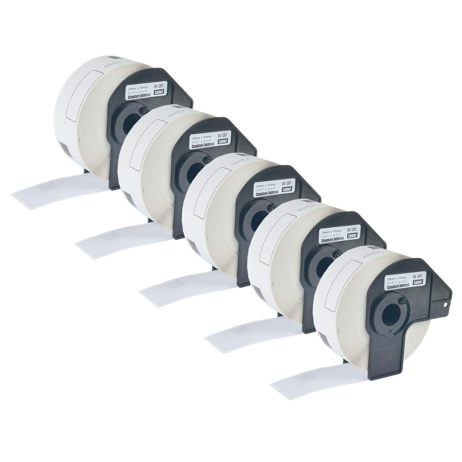 KCYMTONER 5 Roll of Compatible Brother DK-1201 DK1201 White Label Continuous Paper 29mm x 90mm (1-1/7'' 3-1/2'') for P-Touch Q Touch QL-500 QL-570VM QL-710W QL-1050N QL-1060N Series Printer