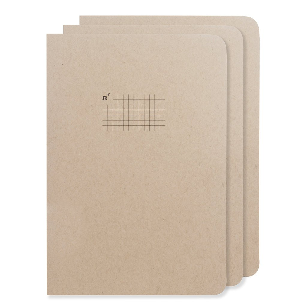 Graph Paper Notebooks | 3 Journals Grid/Gridded Pages of Squares | Premium 7x10 Large Sheets | Made in USA