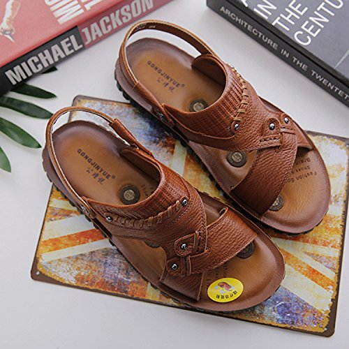 Selling Well Summer Die neuen Sandals Sandalen Männer Drive Massage Beach Schuhe, Braun, UK = 8, EU = 42