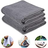 "NIcool Sports Cycling Towels, 43""x13.75"" 100% Cotton Soft Fresh Quick-Dry Towels for Workout, Fitness, Yoga, Pilates, Travel,"