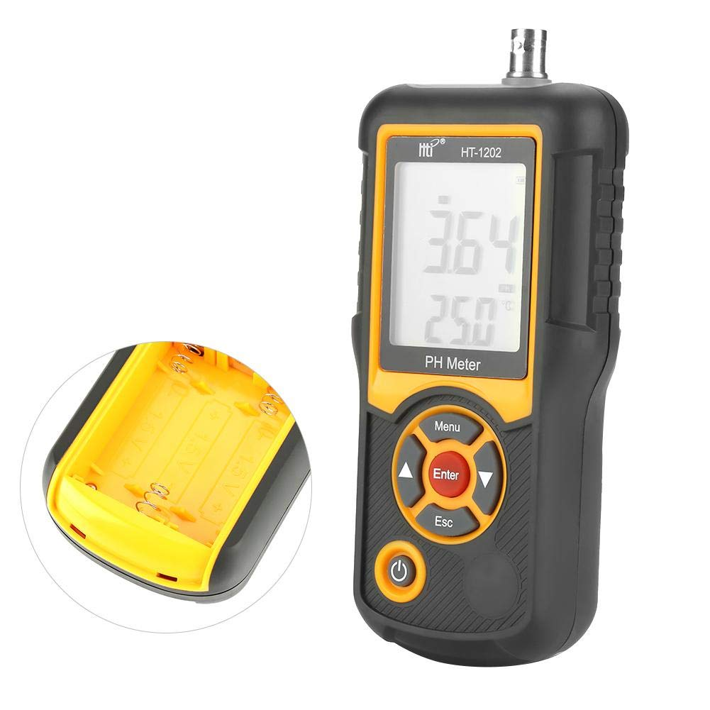 Akozon Digital PH Meter HT-1202 PH Test water 0.01 PH High Precision Digital Water Quality Tester PH mV Tester Temperature Meter with 0-14 PH Measurement Range for Household Drinking, Pool and Aquariu by Akozon (Image #6)