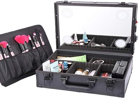BIXINYAAN LED Maleta Maquillaje Beauty Case Estuche para cosméticos Profesional Multiuso ser portátil con Espejo,USregulations: Amazon.es: Deportes y aire libre