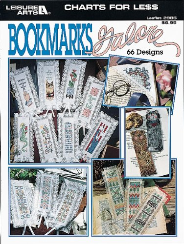 Charts For Less -- Bookmarks Galore  (Leisure Arts #2985) - Cross Stitch Chart Book