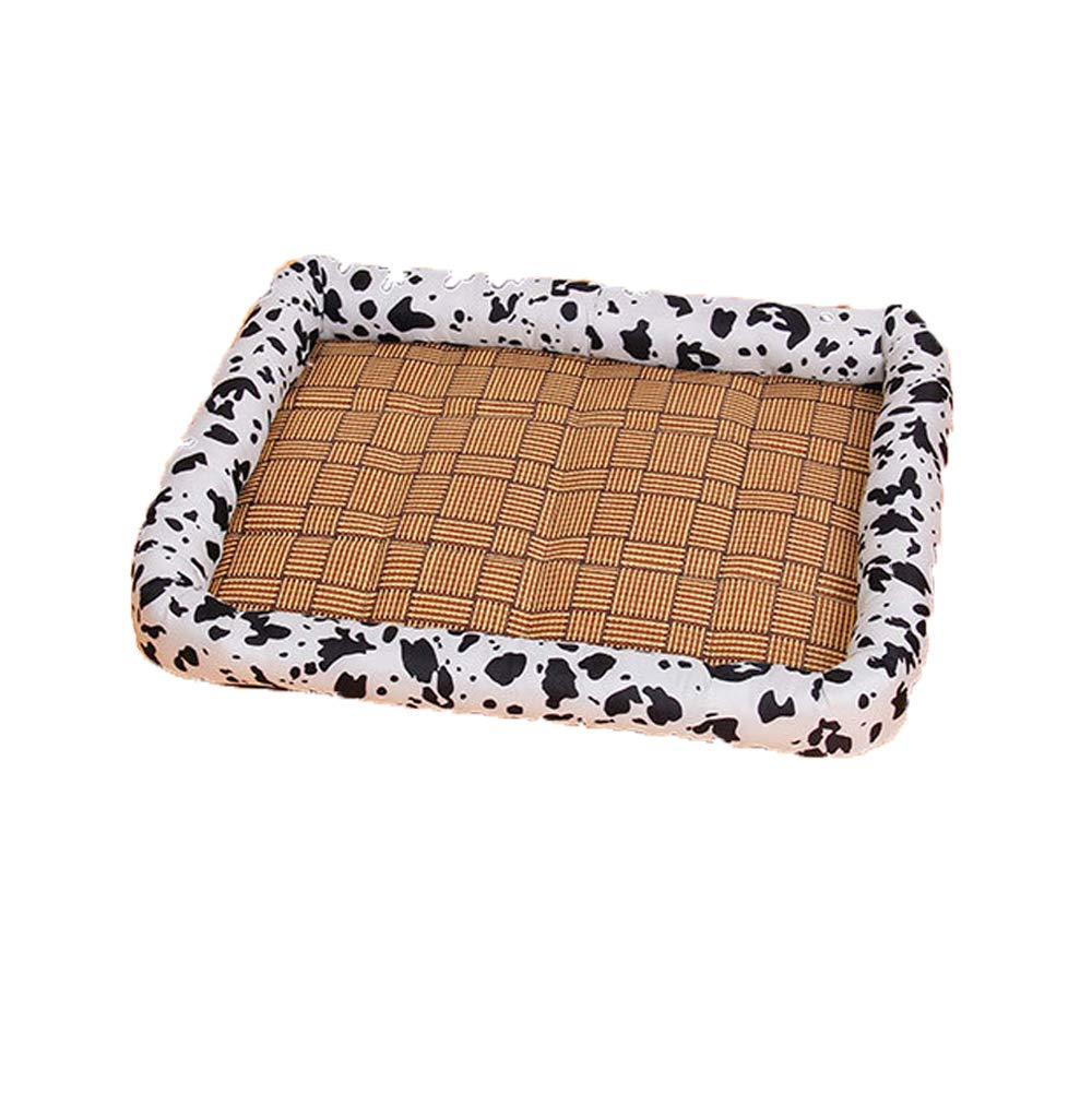 B 41316 b 41316 ROM Pet Bed Medium Rattan Summer Cooling Mat Cushion Covers Pad Waterproof Small Dogs Cat Washable Soft Comfortable Removable Bedding Travel Outdoor Home Sleep,b,41  31  6