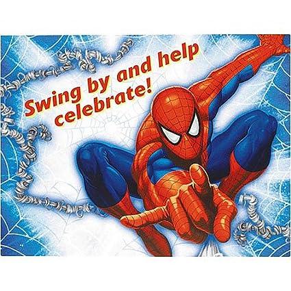 Amazon Com Spiderman Invitations 8ct Toys Games