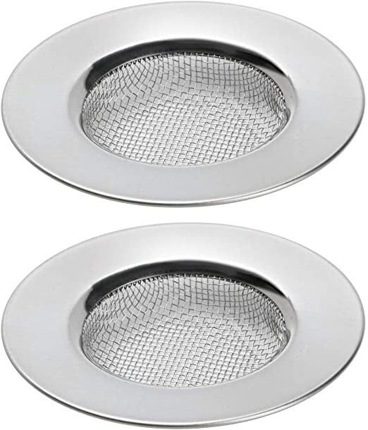Sink Strainer Bath Basin Steel Hair Filter Catcher Cover Kitchen Drain Plug Hole