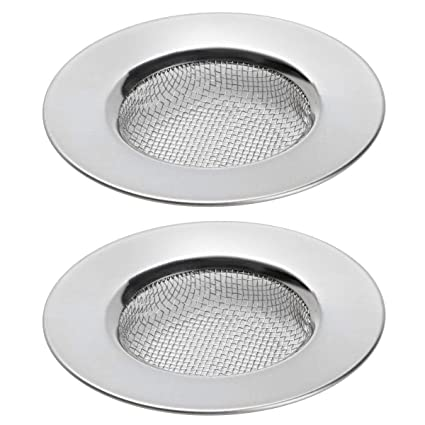 TRIXES Pack of 2 Sink Strainers for Shower, Plug Hole Hair