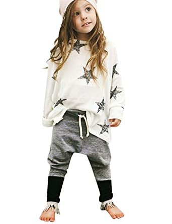 bon marché sélectionner pour authentique super qualité La Cabina Bébé Fille Garçon Ensemble en 2 Pcs Tops T-Shirt Motif Étoiles +  Pantalon de Hip-hop Lâche Style Décontracté Personnalisé pour Printemps ...