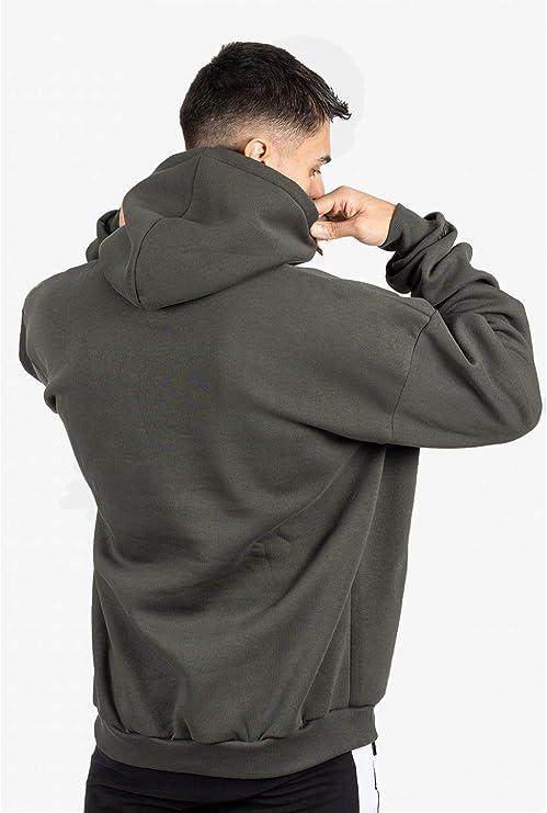 GYMJUNKY Brackets Oversize Hoodie Langarm Sportpullover Oversize Pullover mit Kapuze Sweatshirt Pulli Hoodie f/ür Sport Fitness /& Freizeit