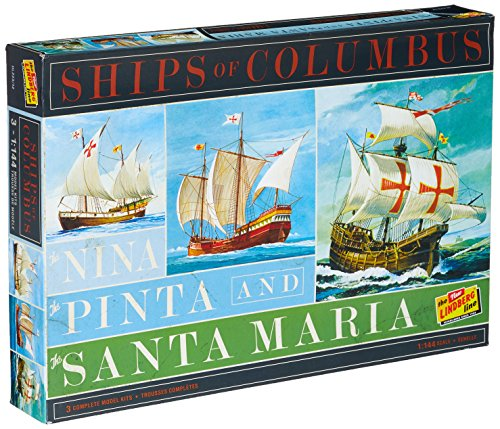 Lindberg HL223 Ships of Columbus The Nina, The Pinta, and The Santa Maria 1:144 Scale Plastic Model Kits - Requires (144 Scale Plastic Kit)