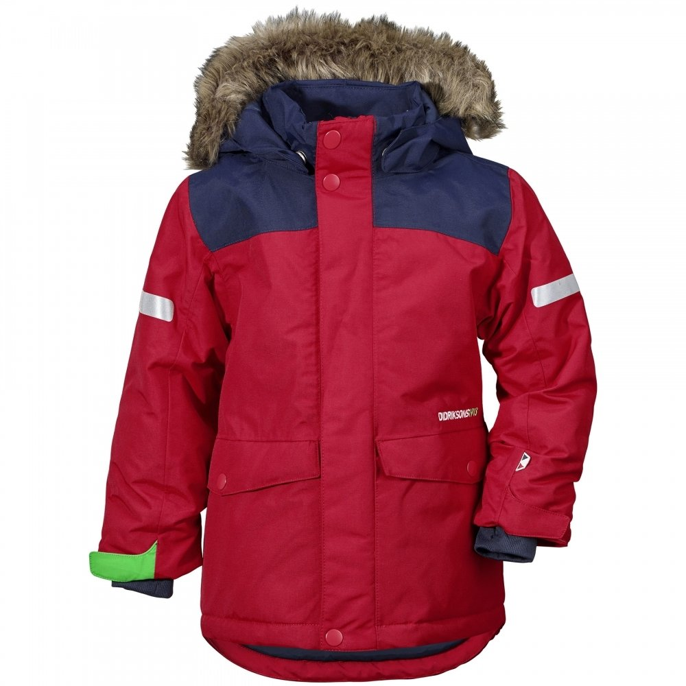 Didriksons Storlien Kids Jacket Red 90 by Didriksons