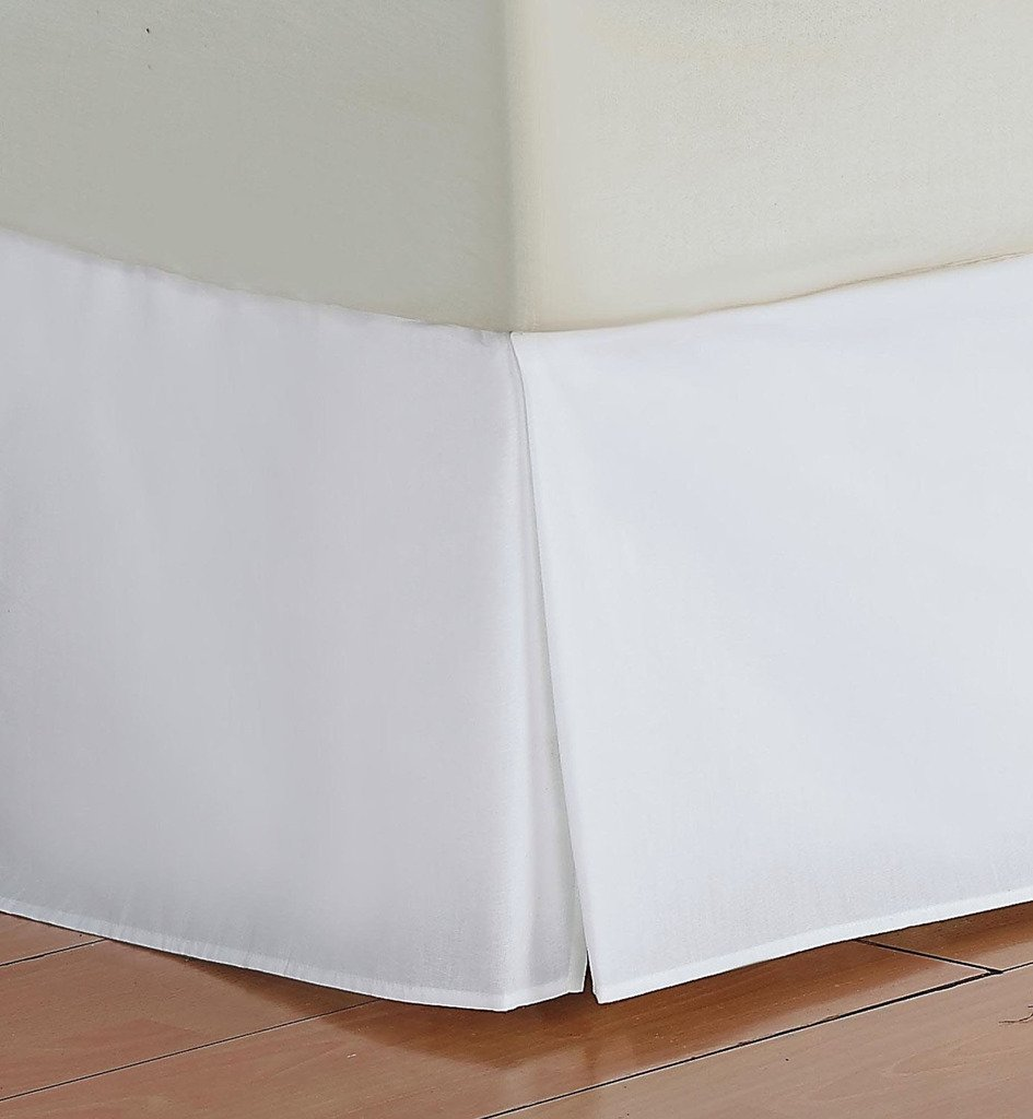 Flyingcart Luxury 750-Thread-Count 100% Egyptian Cotton King 1pc Bed Skirt With 11'' Drop Lenth, White