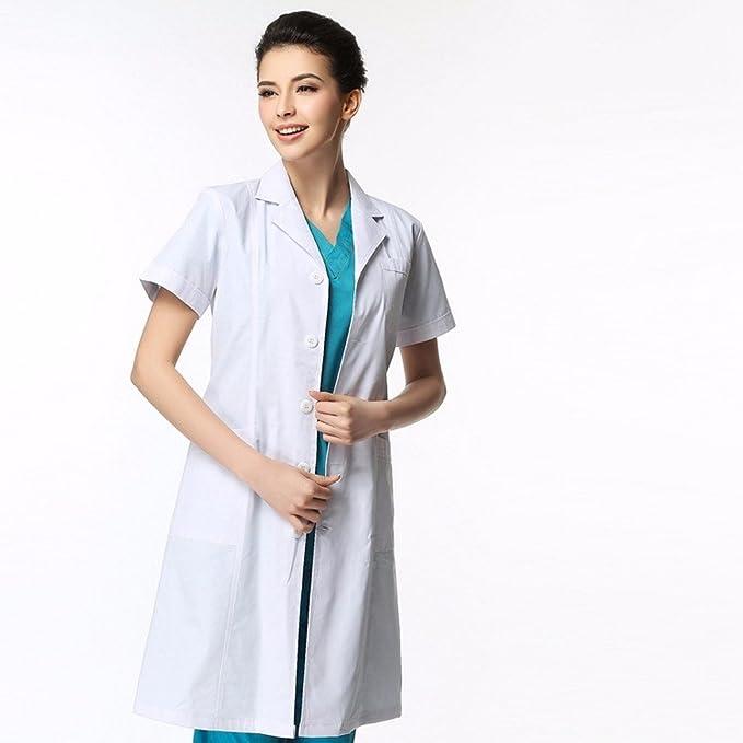 Xuanku Médicos Médicos De Bata Blanca, Capa Blanca, Engrosamiento Enfermera Esteticista, Ropa De