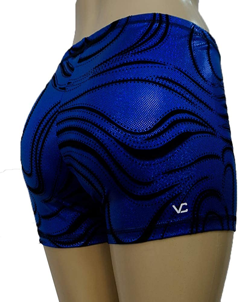Active Skate Sparkle Peacock VCS1 Victorias Challenge Gymnastics Dance Shorts