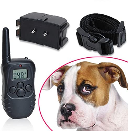 Winterworm Rechargeable 300M LCD Electronic Remote Control Dog Training Collar with 0-100 Levels Static and Vibration Modes for 1 Small Medium Size Dog